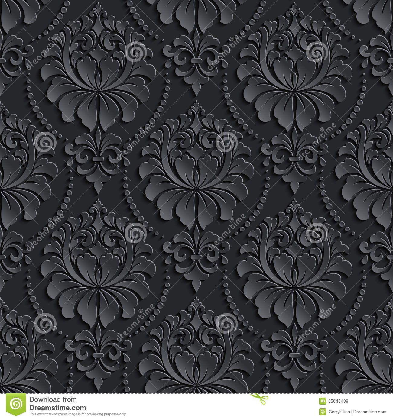 Vector Damask Seamless Pattern Background. Elegant Stock
