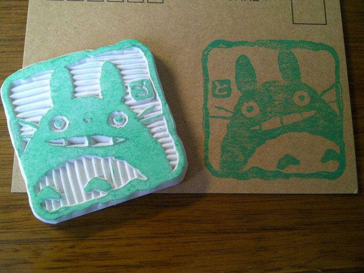 My Neighbor Totoro - Rubber stamp by dunkleLamm.deviantart.com on @deviantART