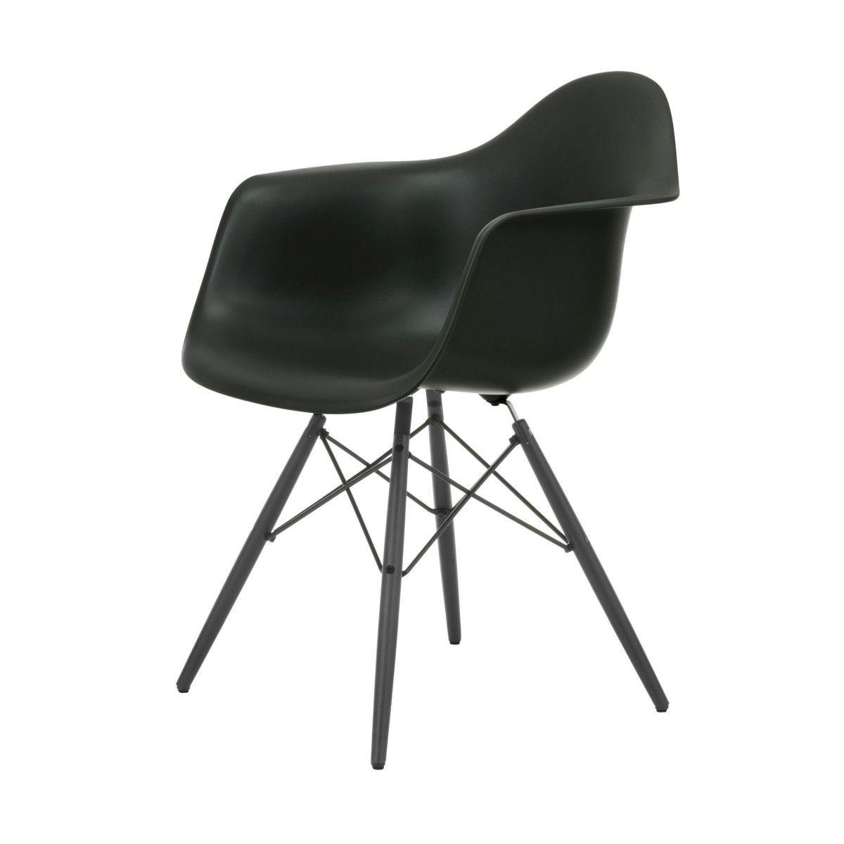 Eames Plastic Armchair Stuhl DAW mit Kunststoffgleitern ...