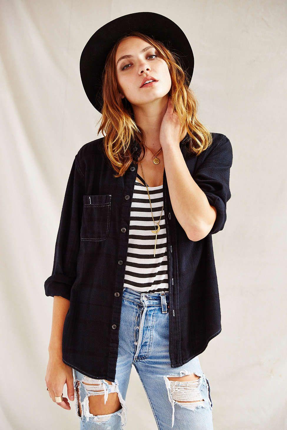 Flannel shirt outfit women  Urban Renewal Overdyed Flannel Shirt  Clothes  Pinterest  Urban