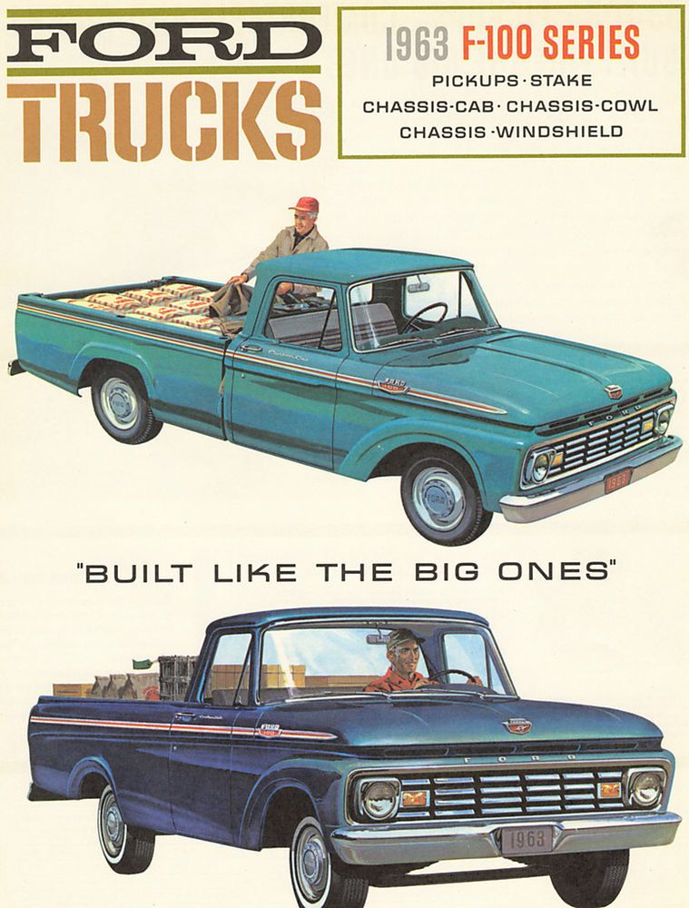 1962  62 FORD TRUCK  SALES BROCHURE