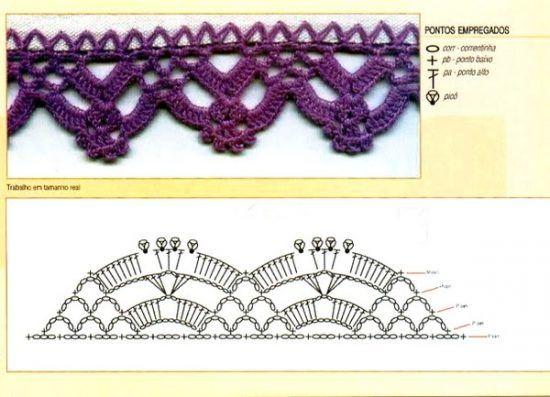 Las m s belas puntillas y bordes de crochet - Puntas de ganchillo ...