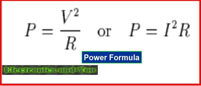 Http Www Electronicsandyou Com Power In Physics And Electricity Html Power In Physics Physics Power Formula