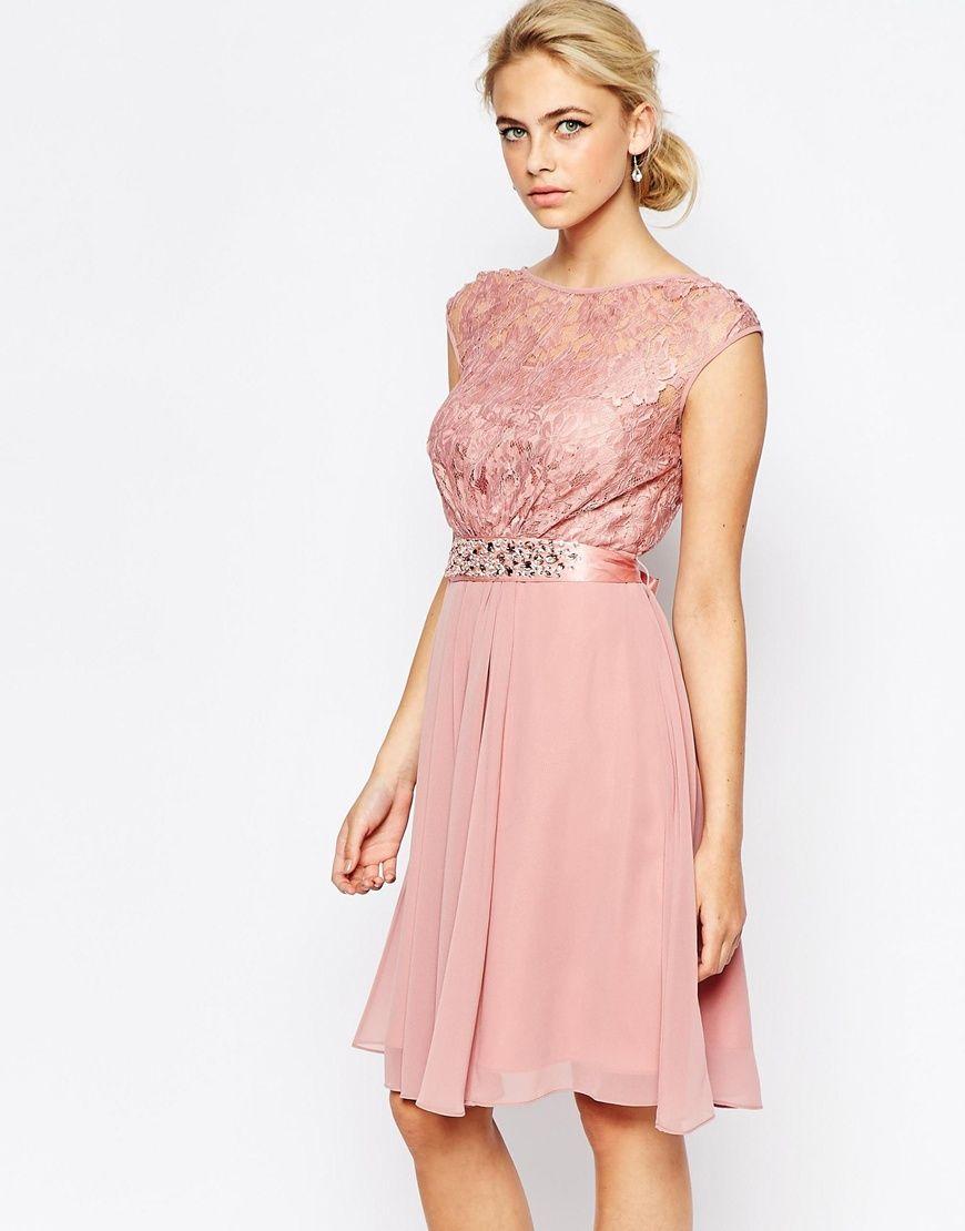 Vestido corto de encaje Lori Lee de Coast | Pinterest | Vestido ...