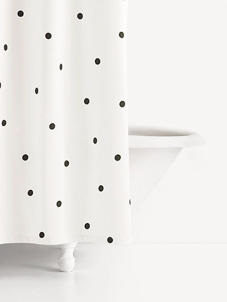 Kate Spade Deco Dot Shower Curtain Blackwhite In 2019 Products