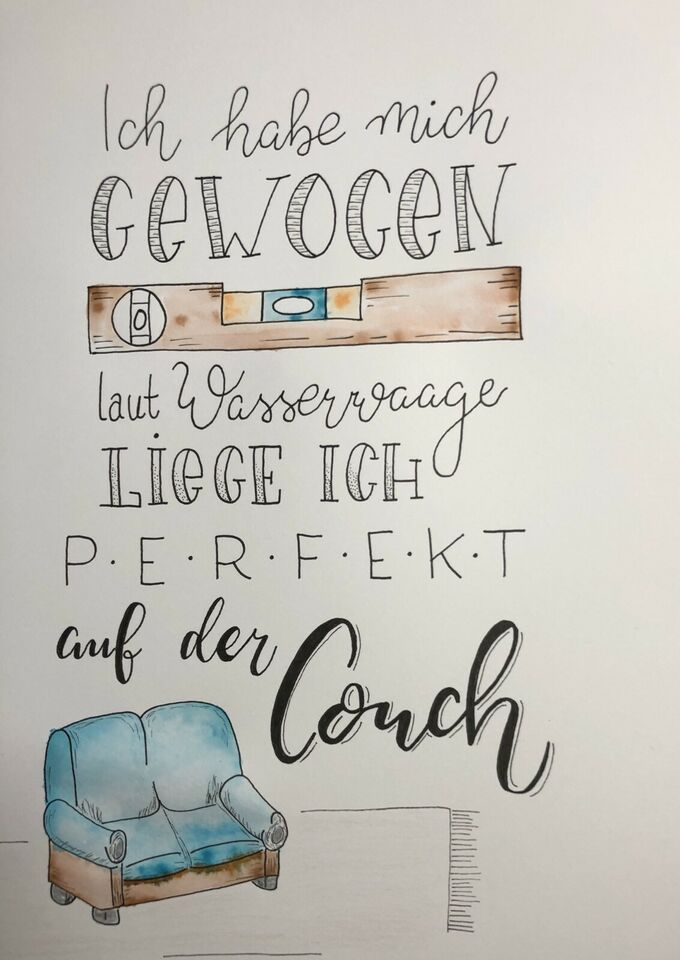 Poster / picture / hand lettering in North Rhine-Westphalia - Balve