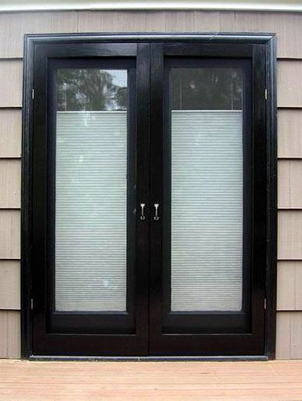 Should i paint my french doors black home pinterest for Black french doors exterior