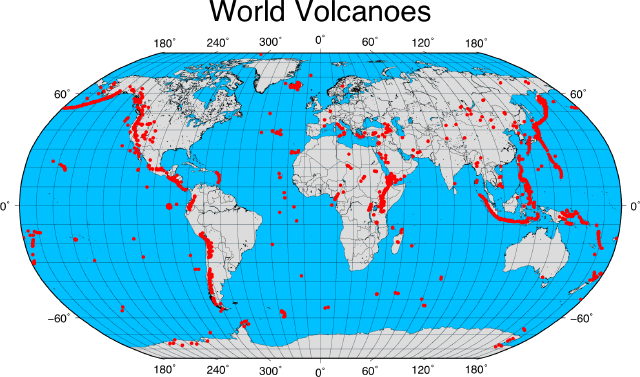 Image result for volcanoes map of the world volcano and geysers
