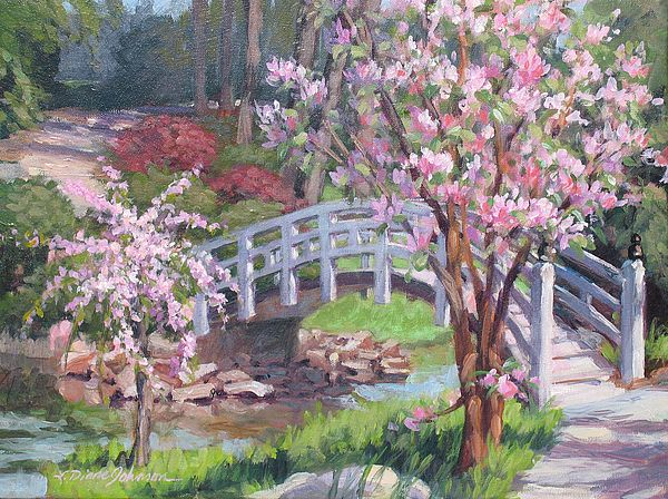 Breath Of Spring By L Diane Johnson Paysages Printemps Peinture