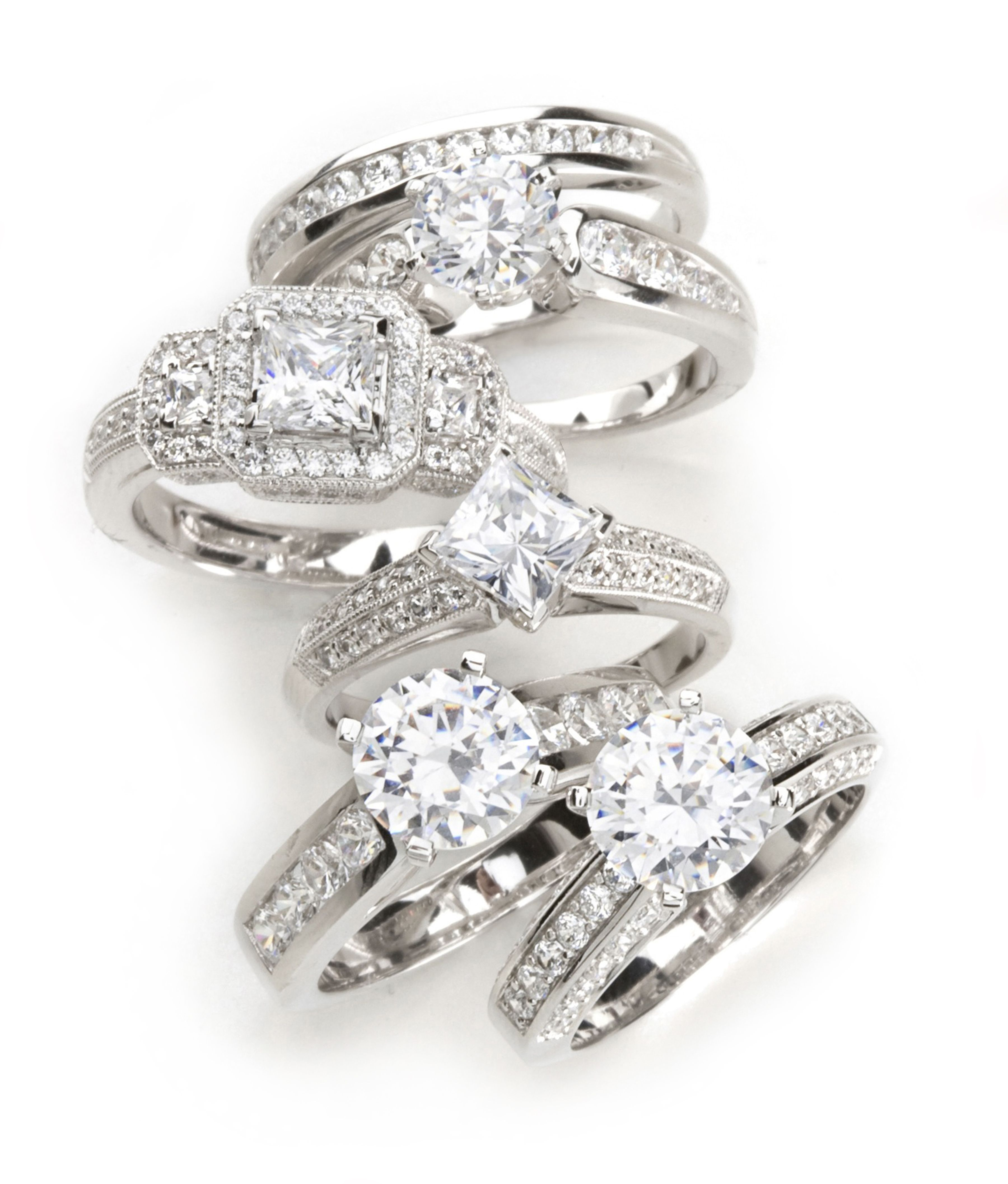 What's your style? Big wedding rings, Top engagement