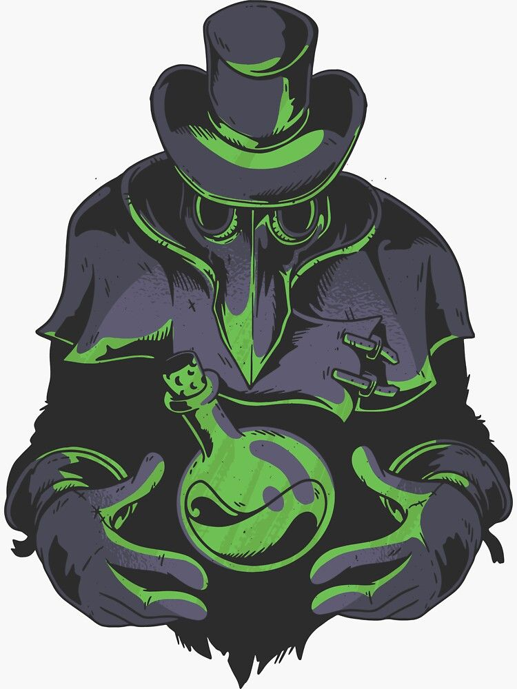 The Plague Doctor Sticker By Rueckema In 2020 Plague Doctor Doctor Drawing Plague Doctor Costume