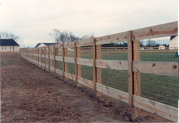 Farm And Ranch Ranch Fencing Farm Fence Fence Design