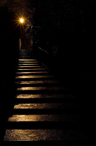"""What was it? They could not tell themselves. They only knew that the black shadows at the top of the staircase had thickened, had coalesced, had taken a definite, batlike shape."" —Sir Arthur Conan Doyle, The Land of Mist"