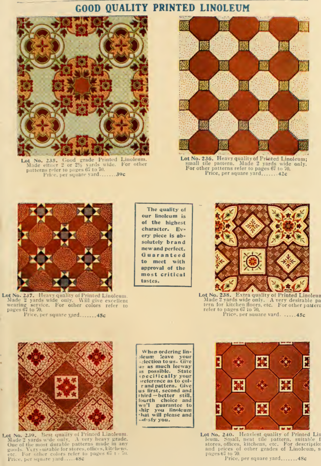 Printed Linoleum Patterns From 40 Catalog House Interiors Delectable Linoleum Patterns