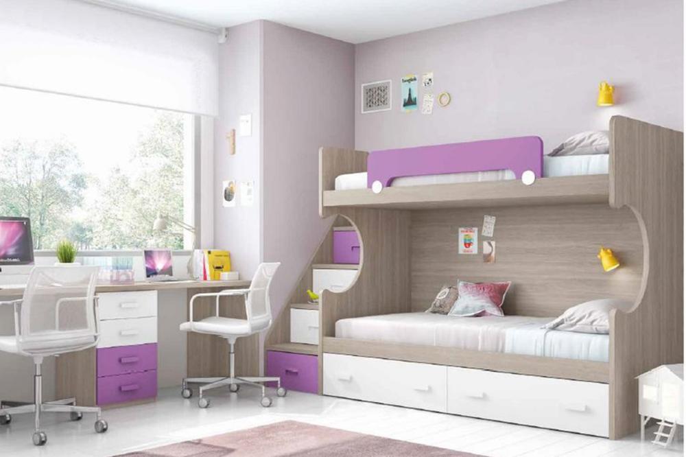 διακόσμηση παιδικού δωματίου για κοριτσια με κουκετα και