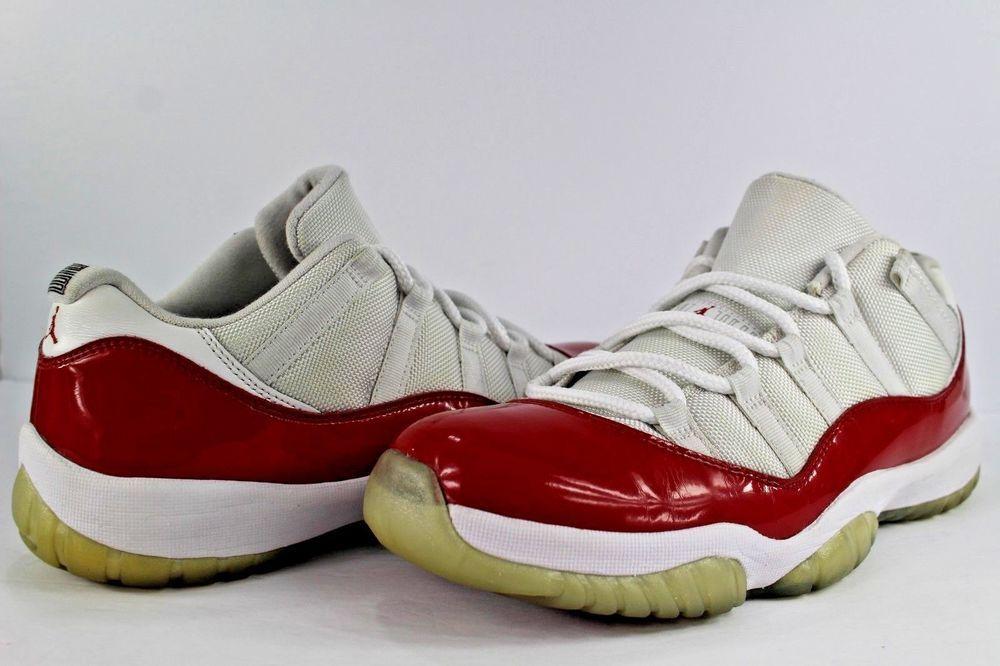 los angeles 1be06 fa8e7 ... nike air jordan retro xi 11 low white varsity red black size 11 cherry  lot fashion