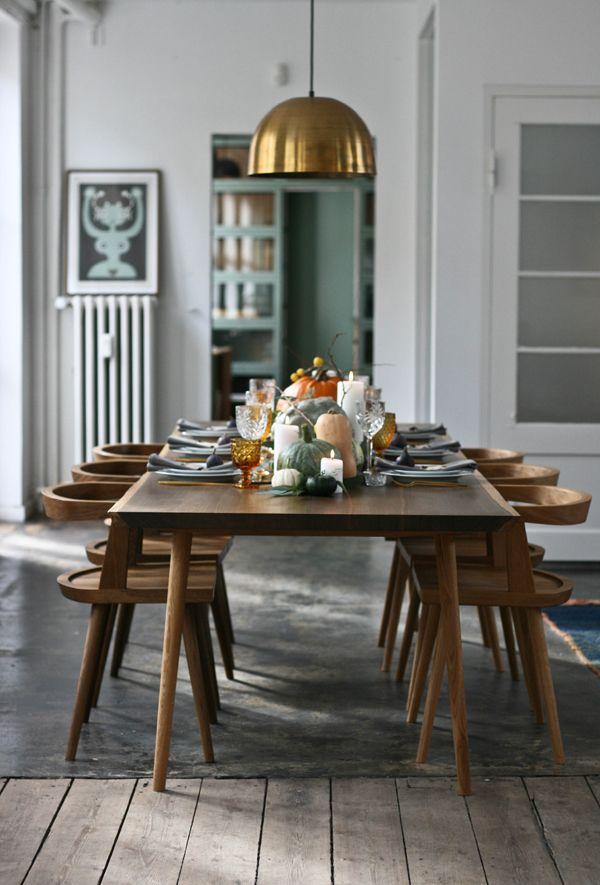 Simple Scandinavian Dining Room Ideas 10: Autumn Table Setting, A Table Story, Via Scandinavian Love