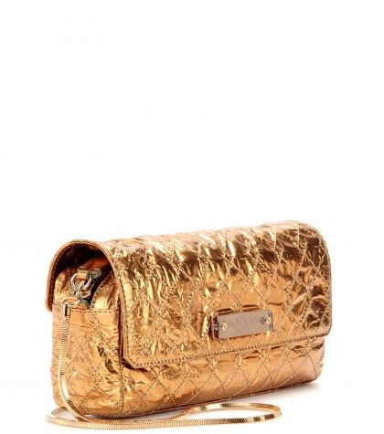 Lanvin - Metallic-leather shoulder bag  - mytheresa.com GmbH