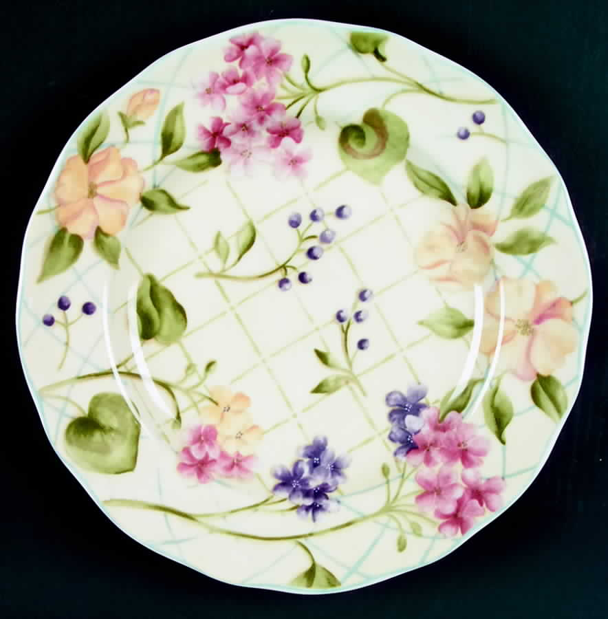 Garden Trellis Dinner Plate By Noble Excellence Garden Trellis
