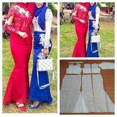 "Photo of Jasa pembuatan pola pakaian on Instagram: ""Basic kebaya graduation pattern dress  Order via line : @modelliste (with @)…"""