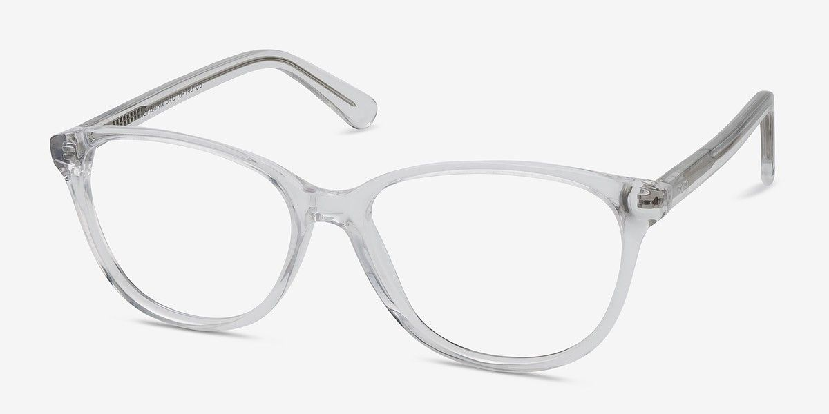Hepburn Clear White Acetate Eyeglasses from EyeBuyDirect. A ...