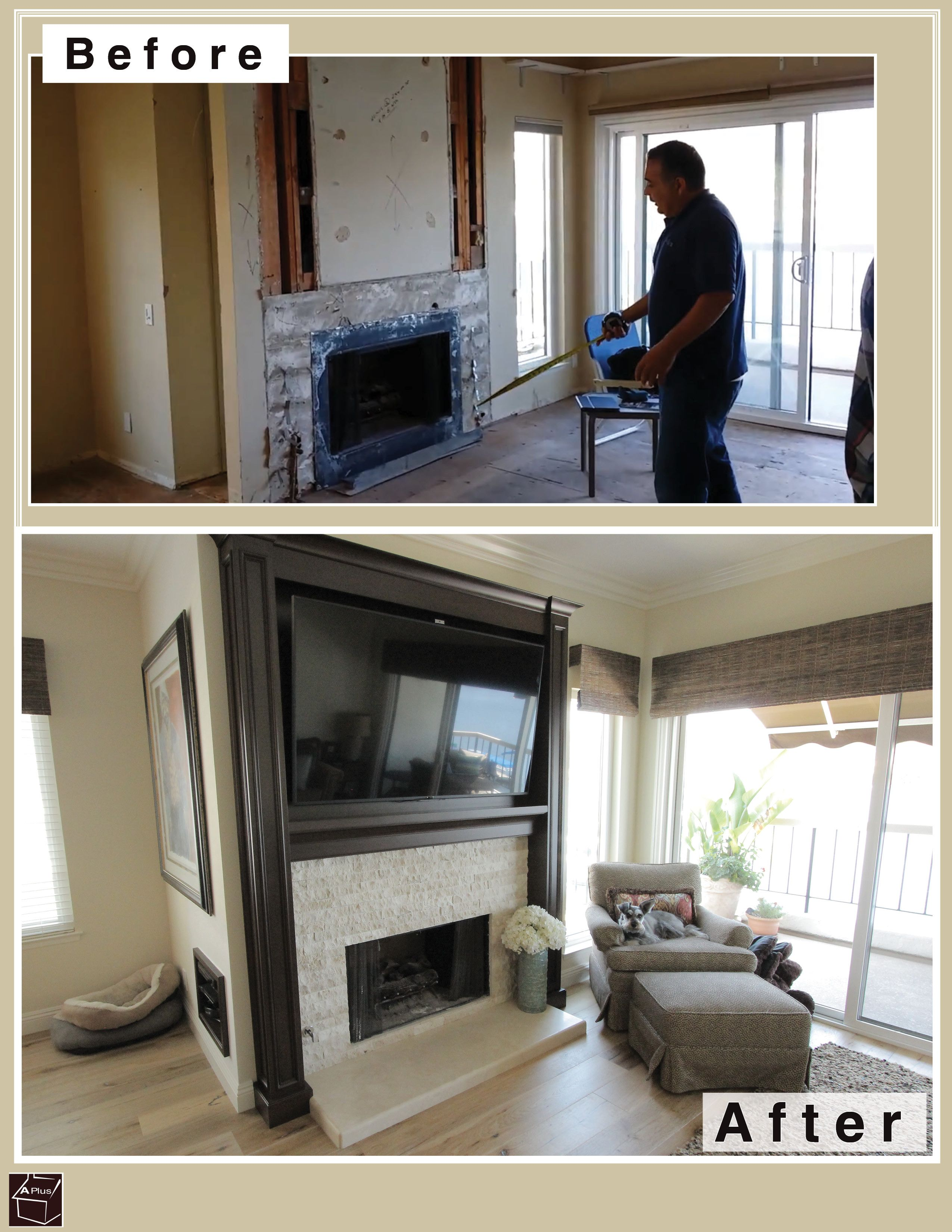 Check Out This Fireplace Entertainment Center Remodel Part Of
