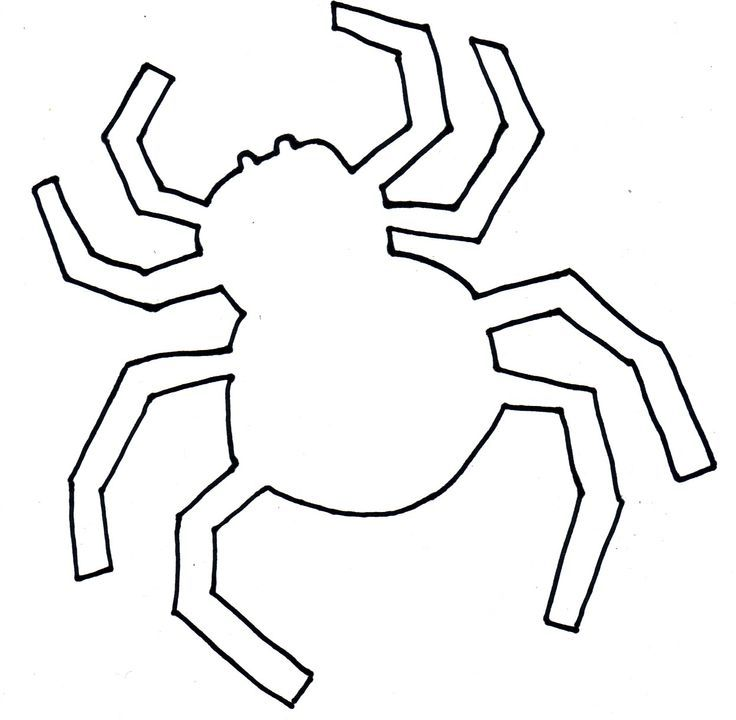 Spider Cut Out Template | Halloween Craft Template - Spider ...