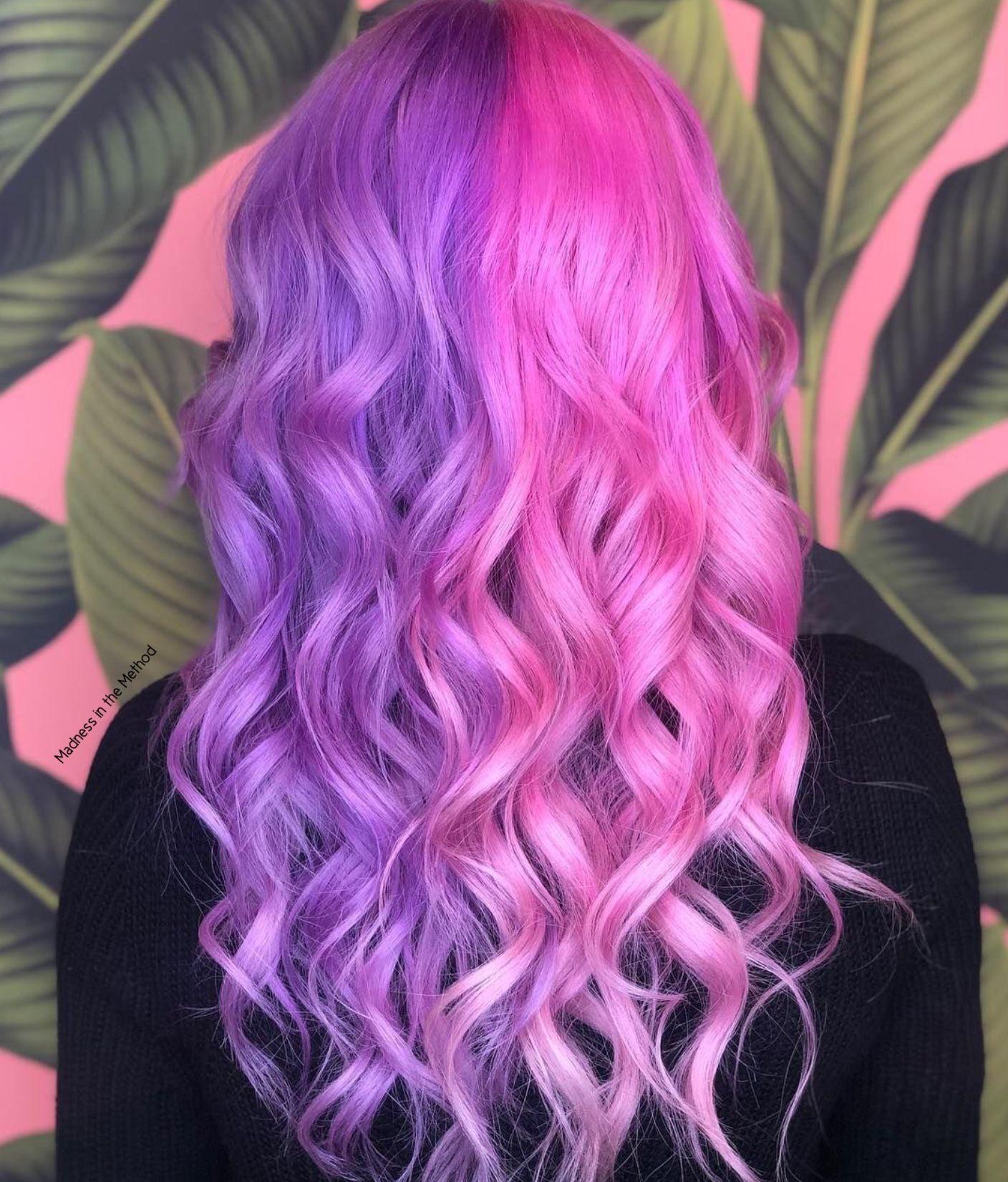Pin By Storm Frost On Hairrrrrrrrrrr Guh In 2020 Hair Dye Colors Hair Color Pink Bright Hair
