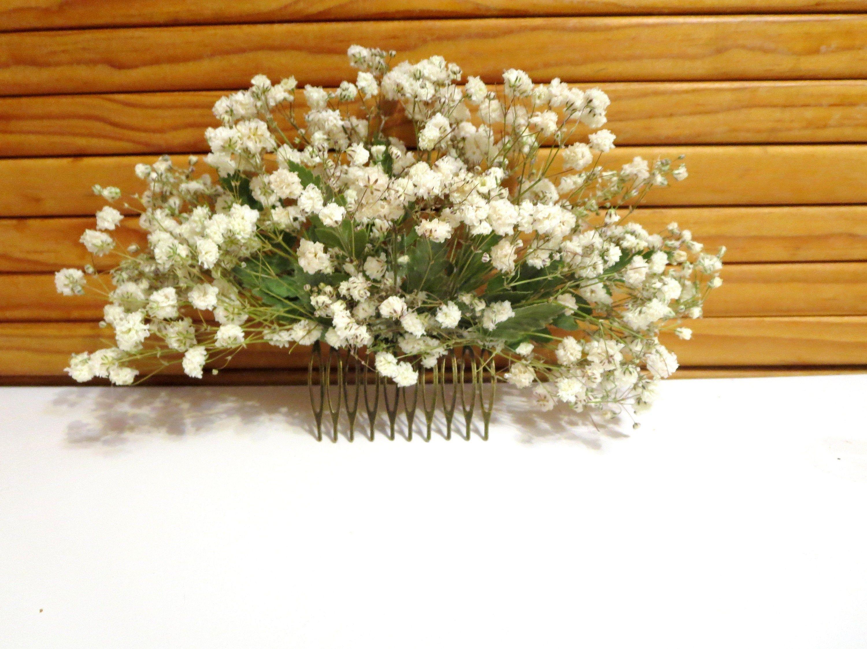floral hair pin Baby/'s breath hair pin Lavender hair comb Dried flower comb Bridal hair piece flowers hair comb decorative hair comb