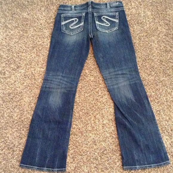 Silver Aiko jeans 34x33 Never worn silver Jeans