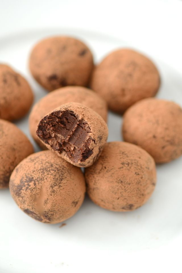 Irish Stout Dark Chocolate Truffles — the beer gives these a malty, earthy flavor