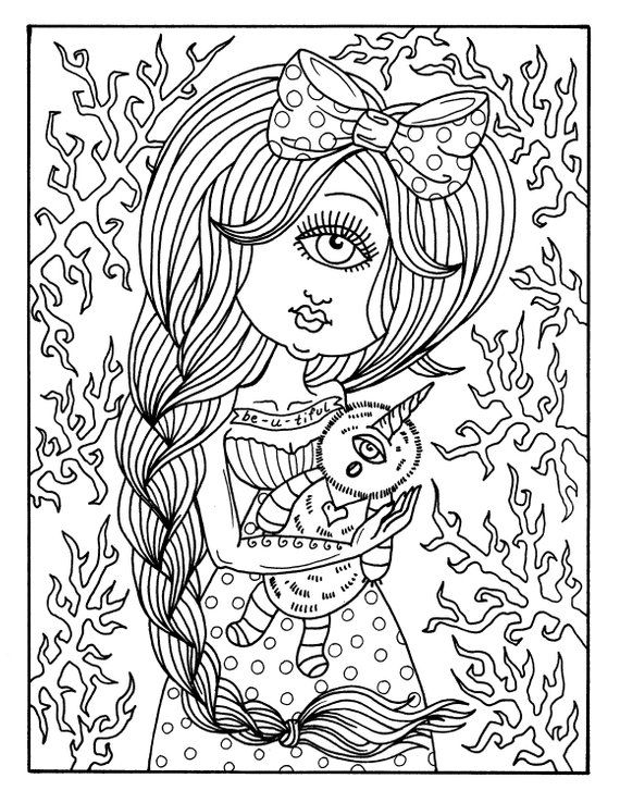 Misfits Coloring Book Creepy Cute Fun Girls To Color And
