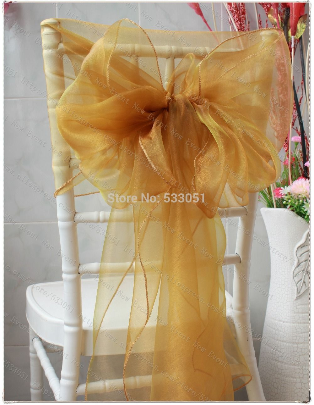 no 40 color snow organza chair hoods chair caps wrap tie back