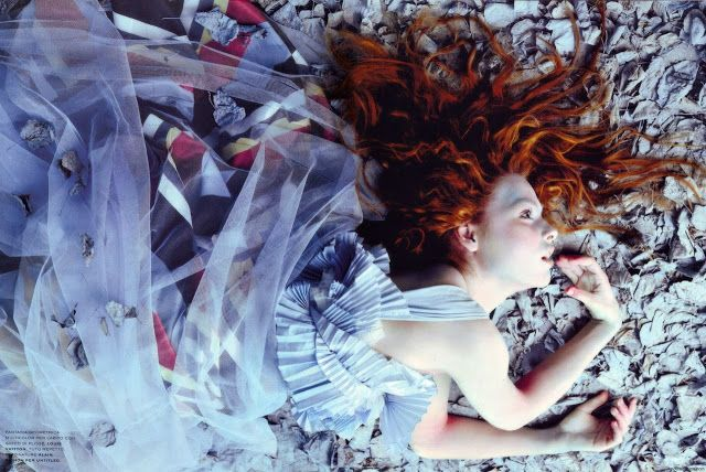 """Once upon in a Fairytale - Inspiration. """"Sogno Romantico"""". Polina Kouklina by Javier Vallhonrat for Flair January 2005"""