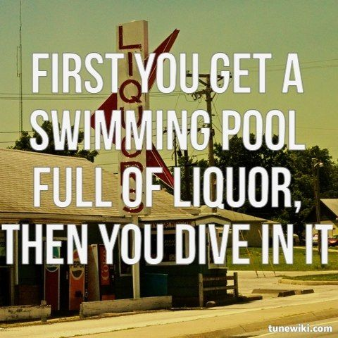 Swimming Pools Songs Say It Better Pinterest