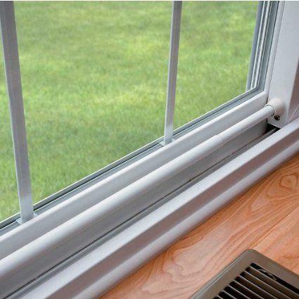 Adjustable Sliding Door Security Bar Improvements Amazon Com Sliding Glass Door Home Safety Home
