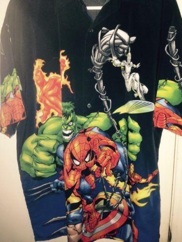 #Popular - Marvel Comics Black Button Front Shirt Hulk Spiderman Captain America Medium  http://dlvr.it/Nn3jqv - http://Ebaypic.twitter.com/U4yjotqXCR