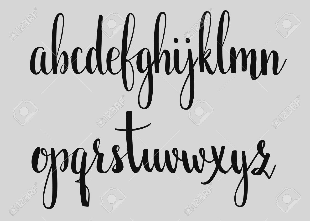 Modern Cursive Font Cursive Fonts Handwriting Alphabet Cute Calligraphy