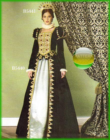 Nobility Medieval Renaissance Dress Patterns | Renaissance Sewing ...