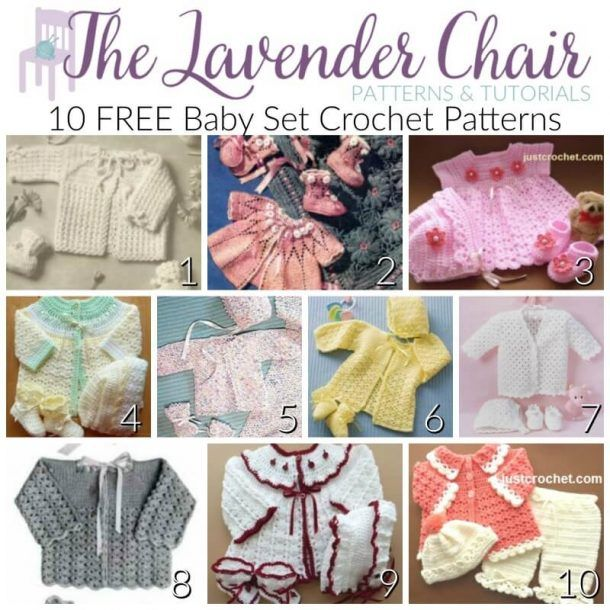310703184280ae FREE Baby Set Crochet Patterns - The Lavender Chair