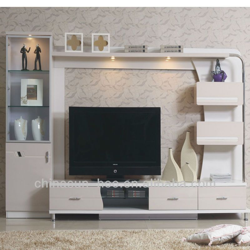 room modern living room furniture lcd tv wall units