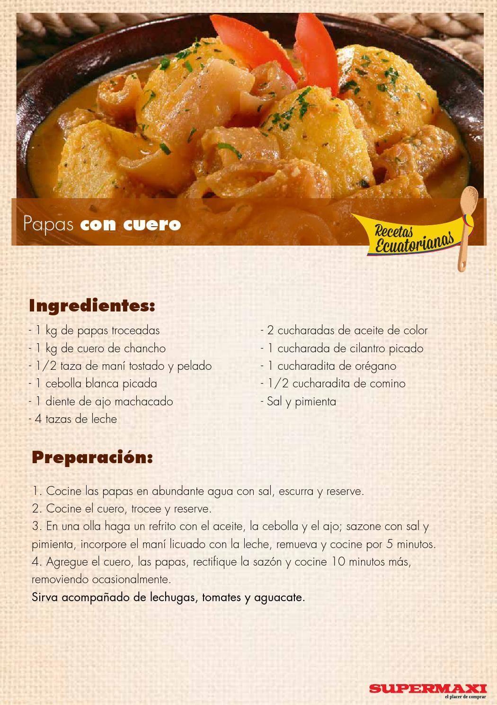 Recetas gourmet ecuatorianas
