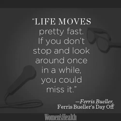 Ferris Bueller Life Moves Pretty Fast Quote Inspiration Life Moves Pretty Fastif You Don't Stop And Look Around Once In