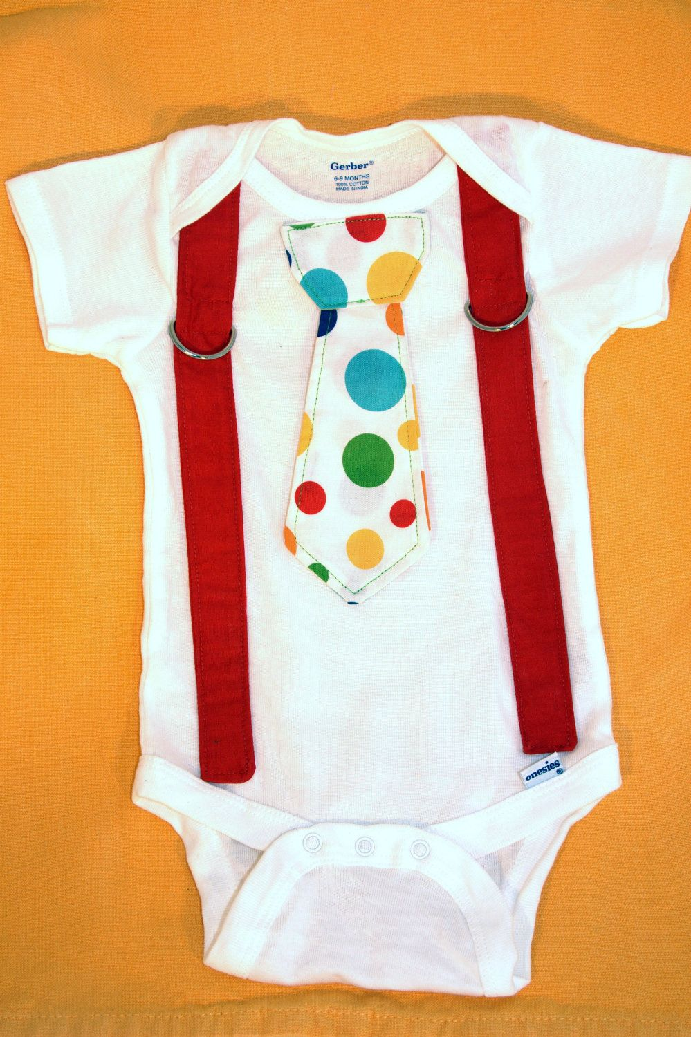 Infant Boy 0 3 6 9 Month Suspenders Circus Bow Tie Clothes Baby