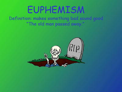 Euphemism Examples Google Search Figurative Language Pinterest
