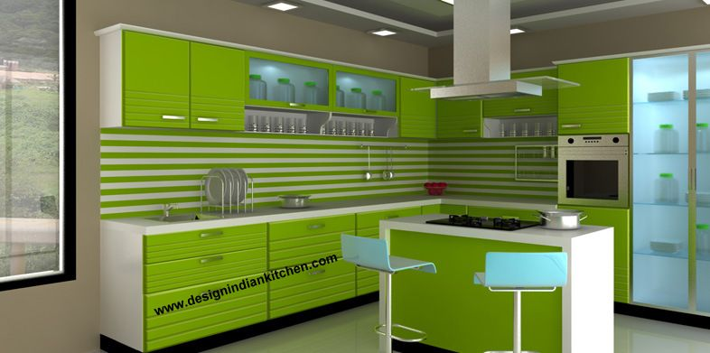 just kitchen designs. i-shaped modular kitchen designed by design indian kitchen call +91-9899264978 or just designs s