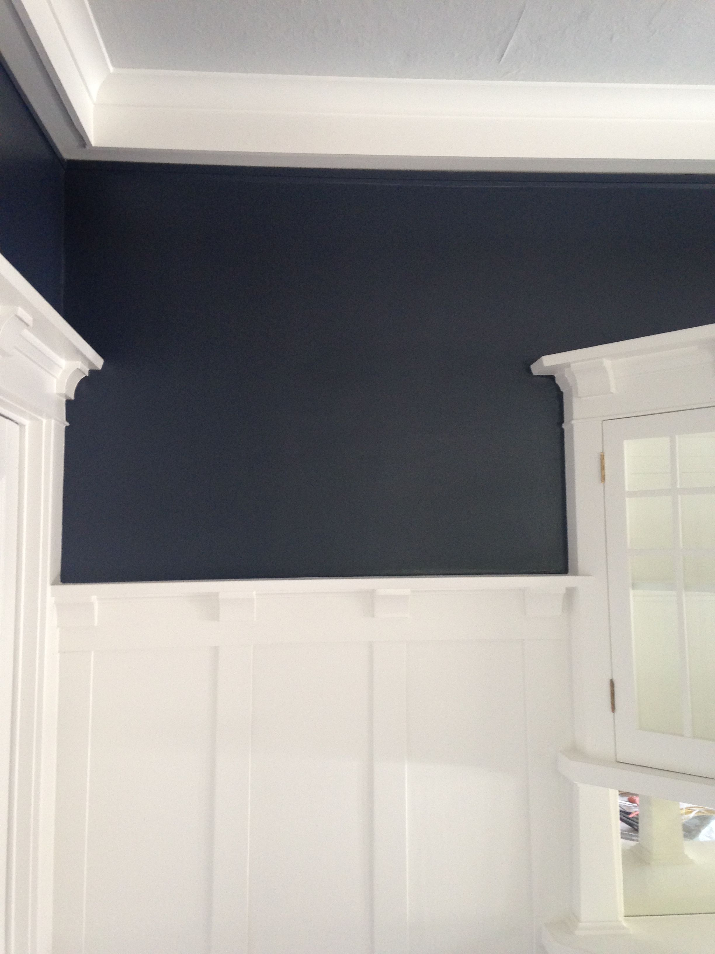 Dining Room Makeover Benjamin Moore Hale Navy Chantilly Lace