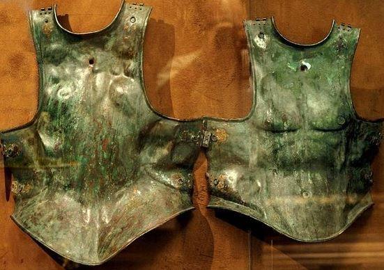 Greek muscled cuirass, 4th century B.C. Museo Pezzoli, Milan