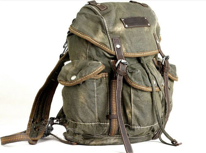 c24fb196f8 Mens Vintage Canvas Hiking Travel Military Backpacks Messenger