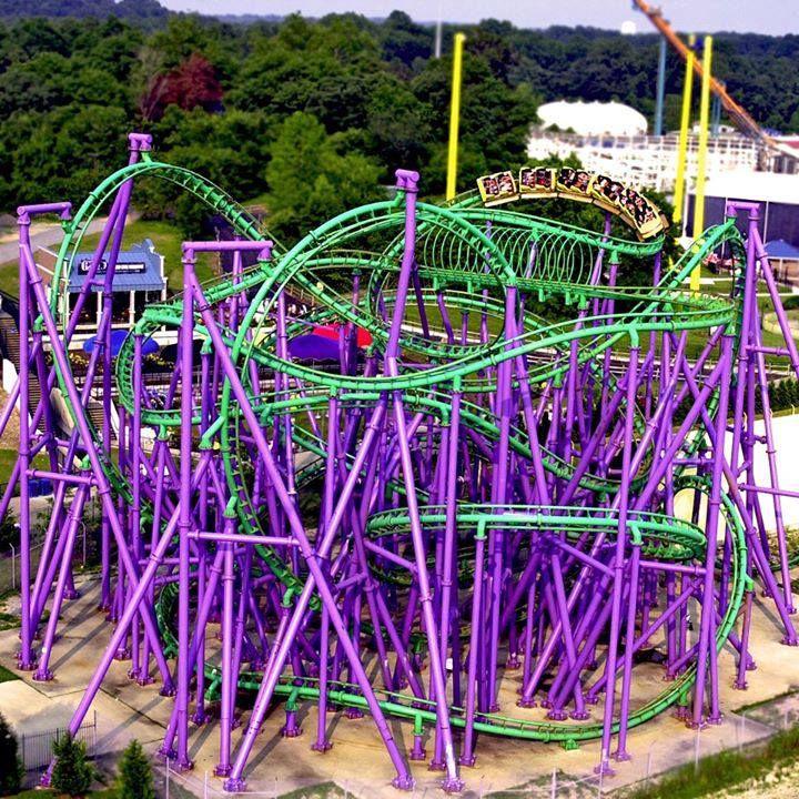 Joker S Jinx Six Flags America Crazy Roller Coaster Scary Roller Coasters Best Roller Coasters